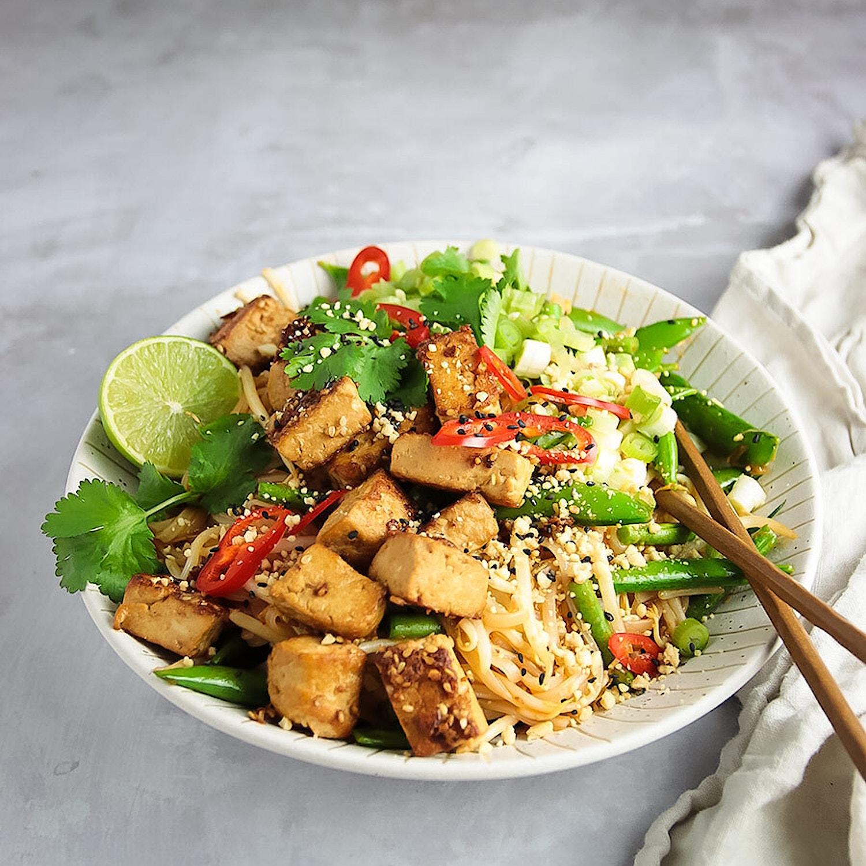 Marinated Tofu Pad Thai