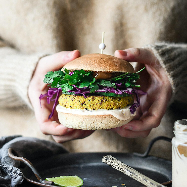 Spiced Cauliflower & Quinoa Burgers