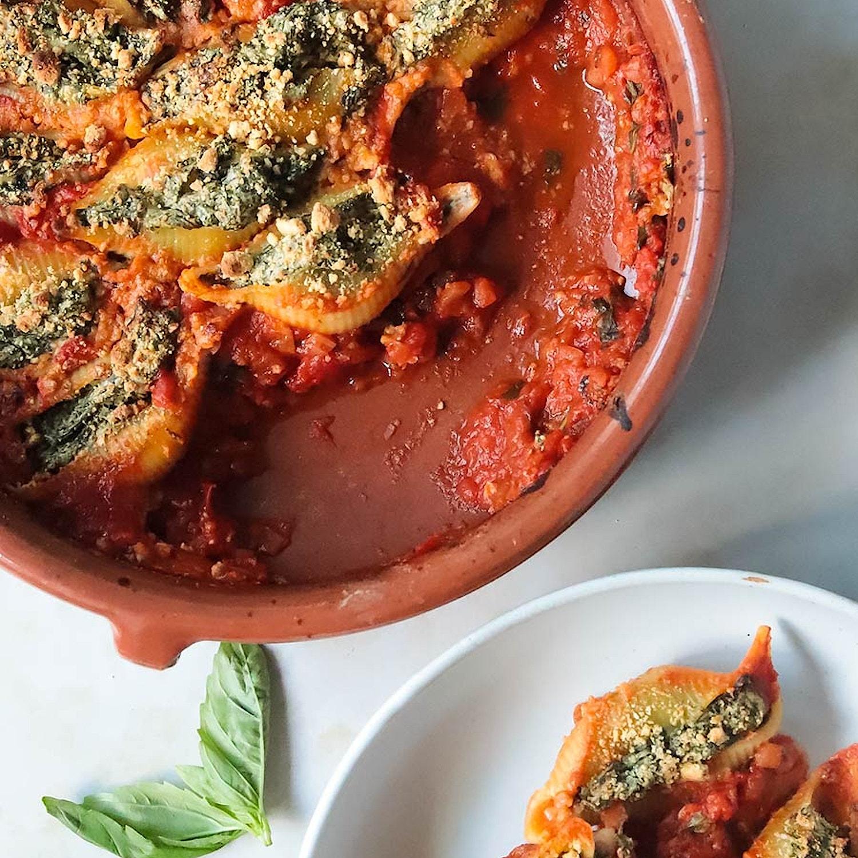 Spinach and 'Ricotta' Conciglioni