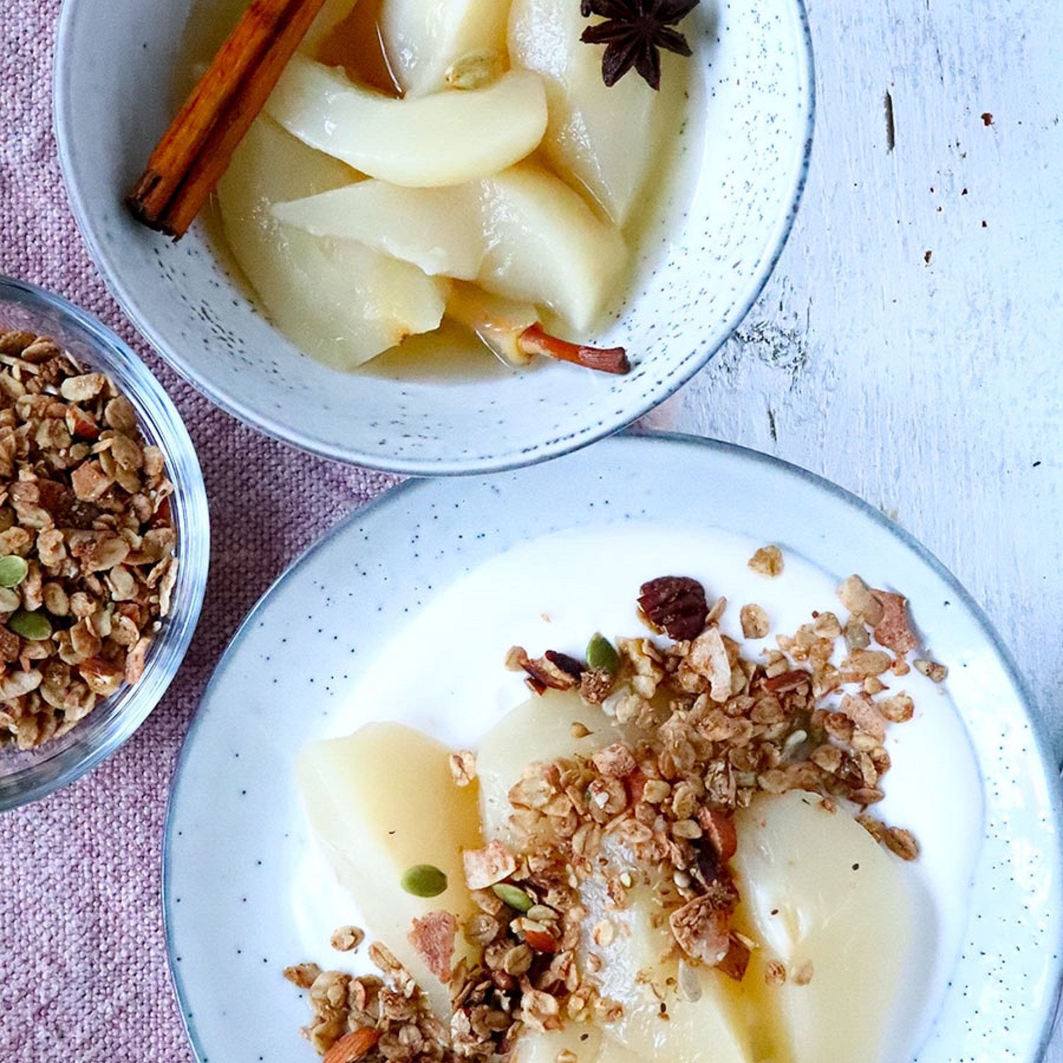 Autumn Spiced Poached Pears