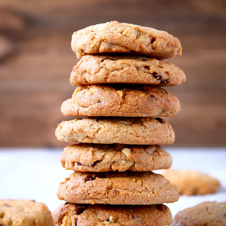 Hazelnut and Cinnamon Chocolate Chip Cookies