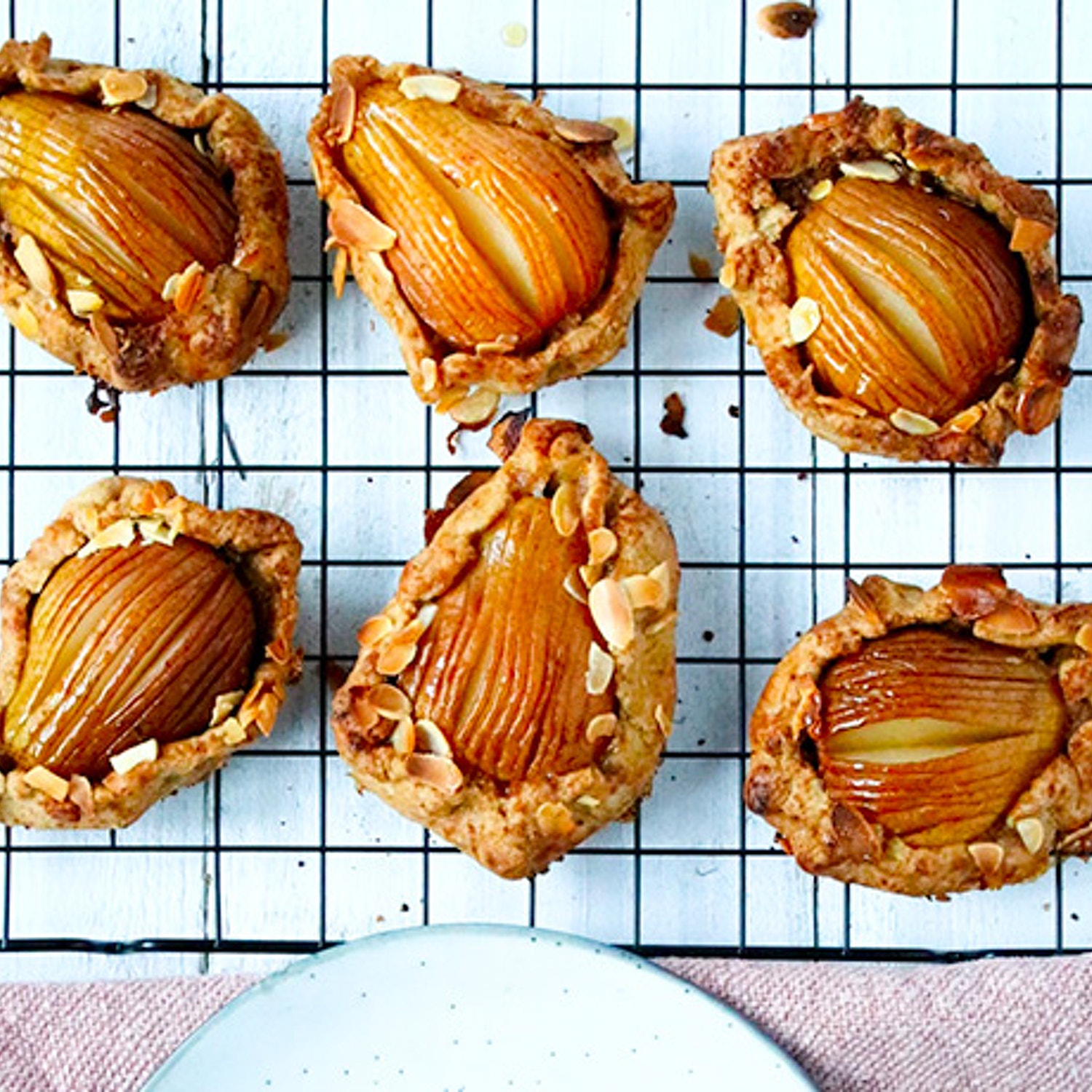Pear and Almond Galettes