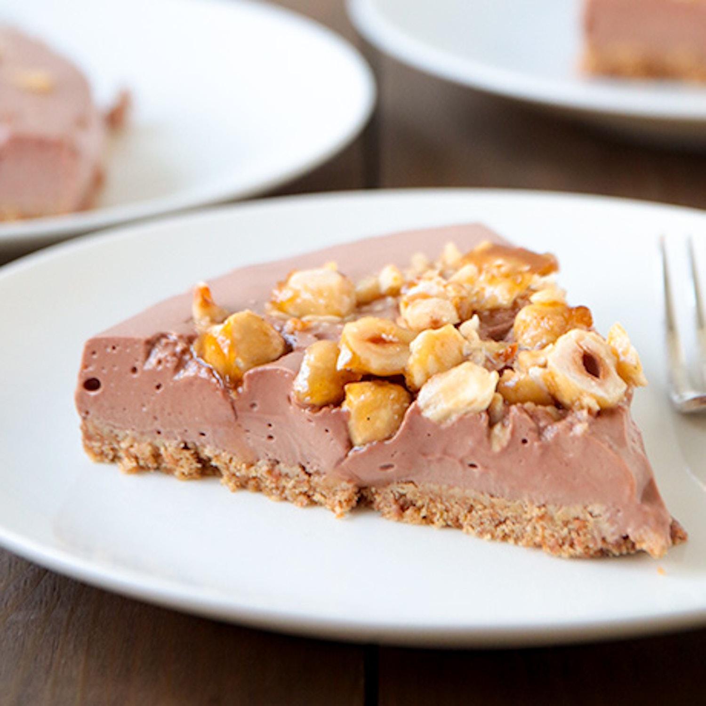 No Bake Chocolate and Hazelnut Praline 'Cheesecake'
