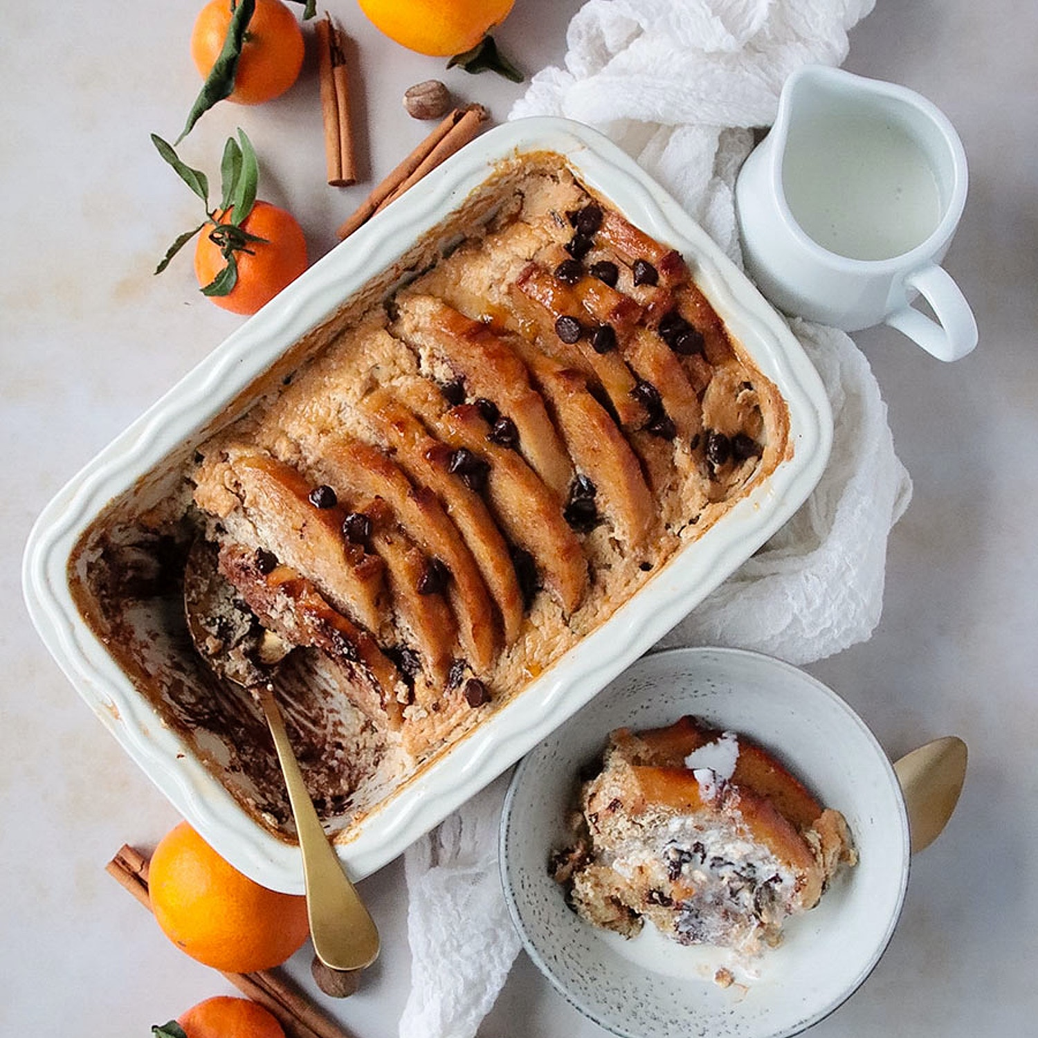 Chocolate Orange Bread and Butter Pudding