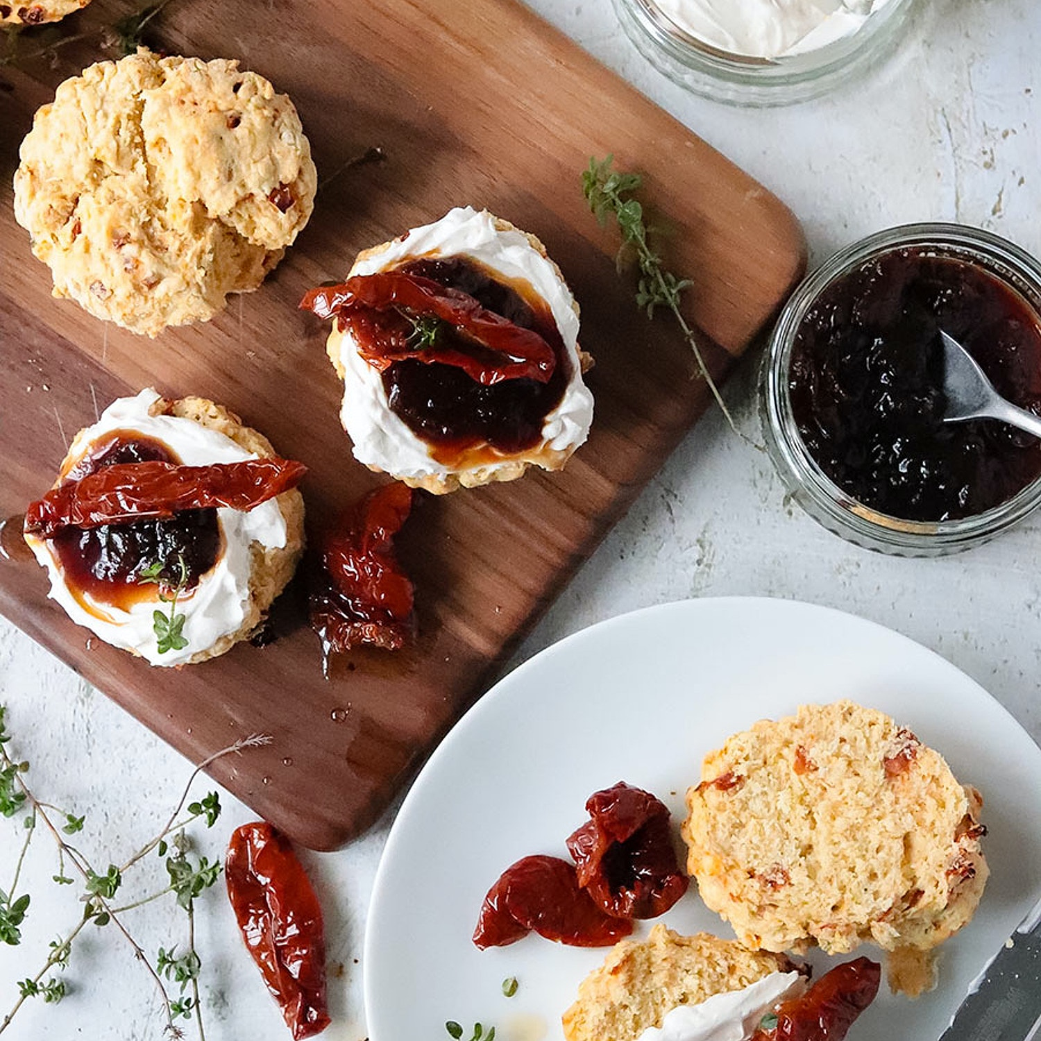 Sun-dried Tomato and Thyme Scones