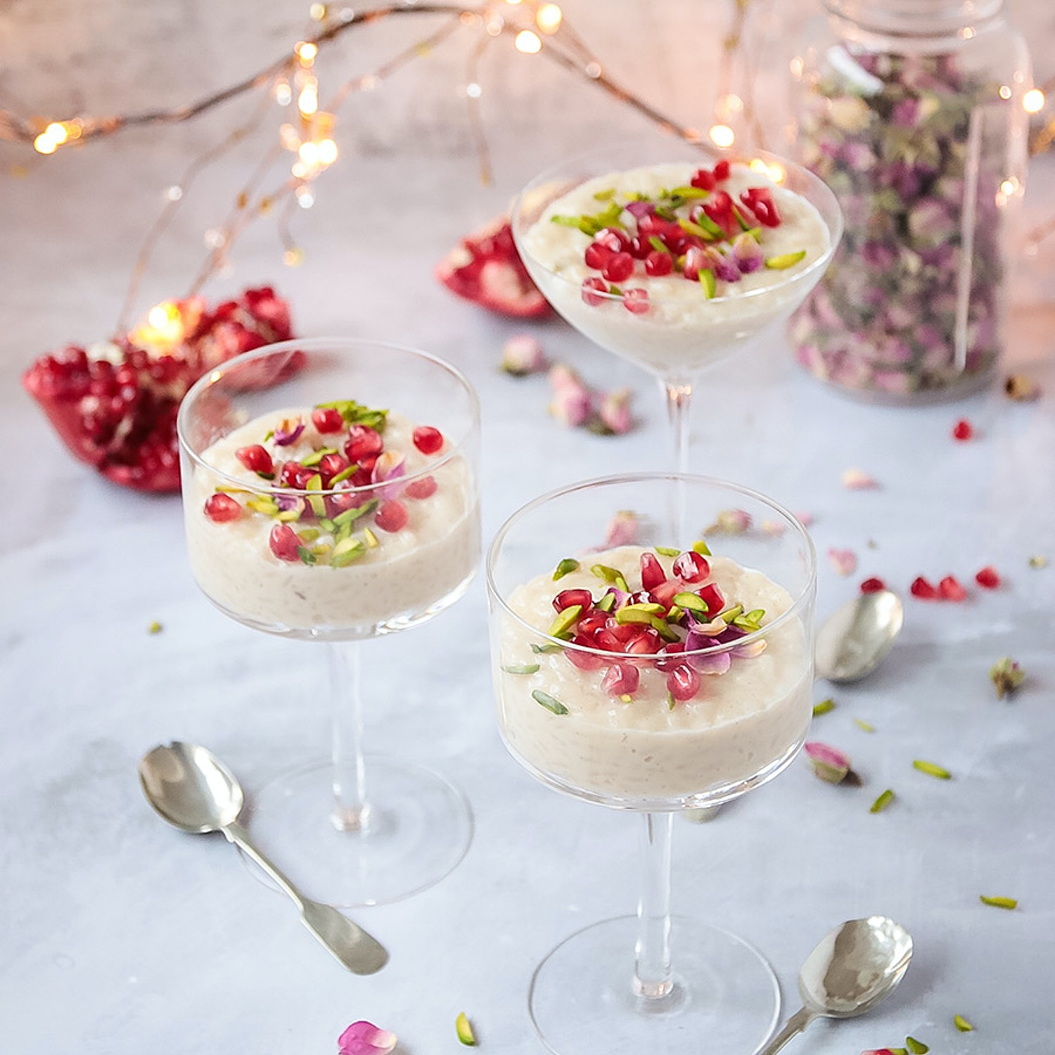 Cardamon and Rose Rice Pudding
