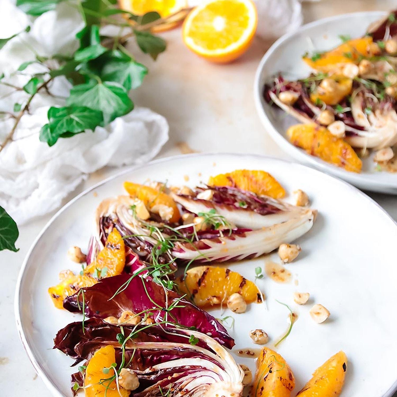 Charred Radicchio and Orange salad