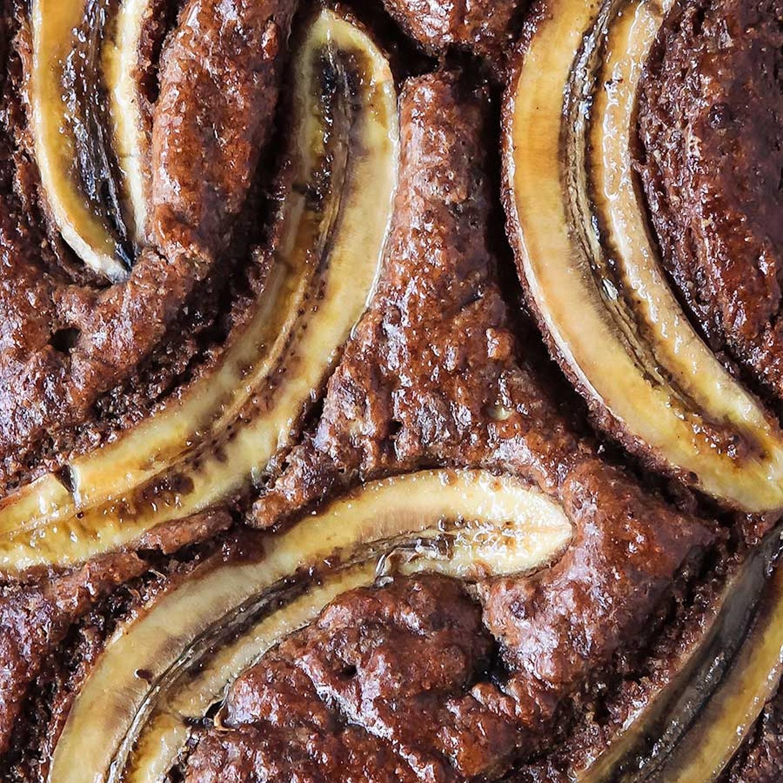 Sticky Spiced Banana Cake