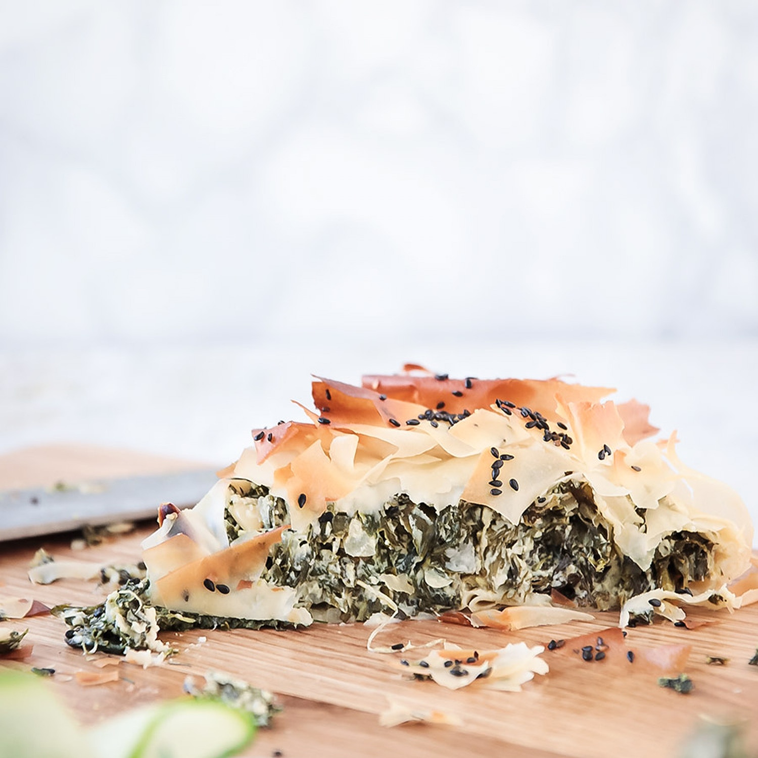 Spinach, Dill and Pine Nut Filo Pie