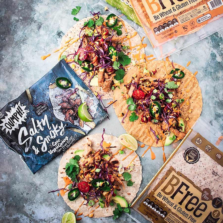 BFree Gluten free Fajitas with Salty and Smoky Oumph!