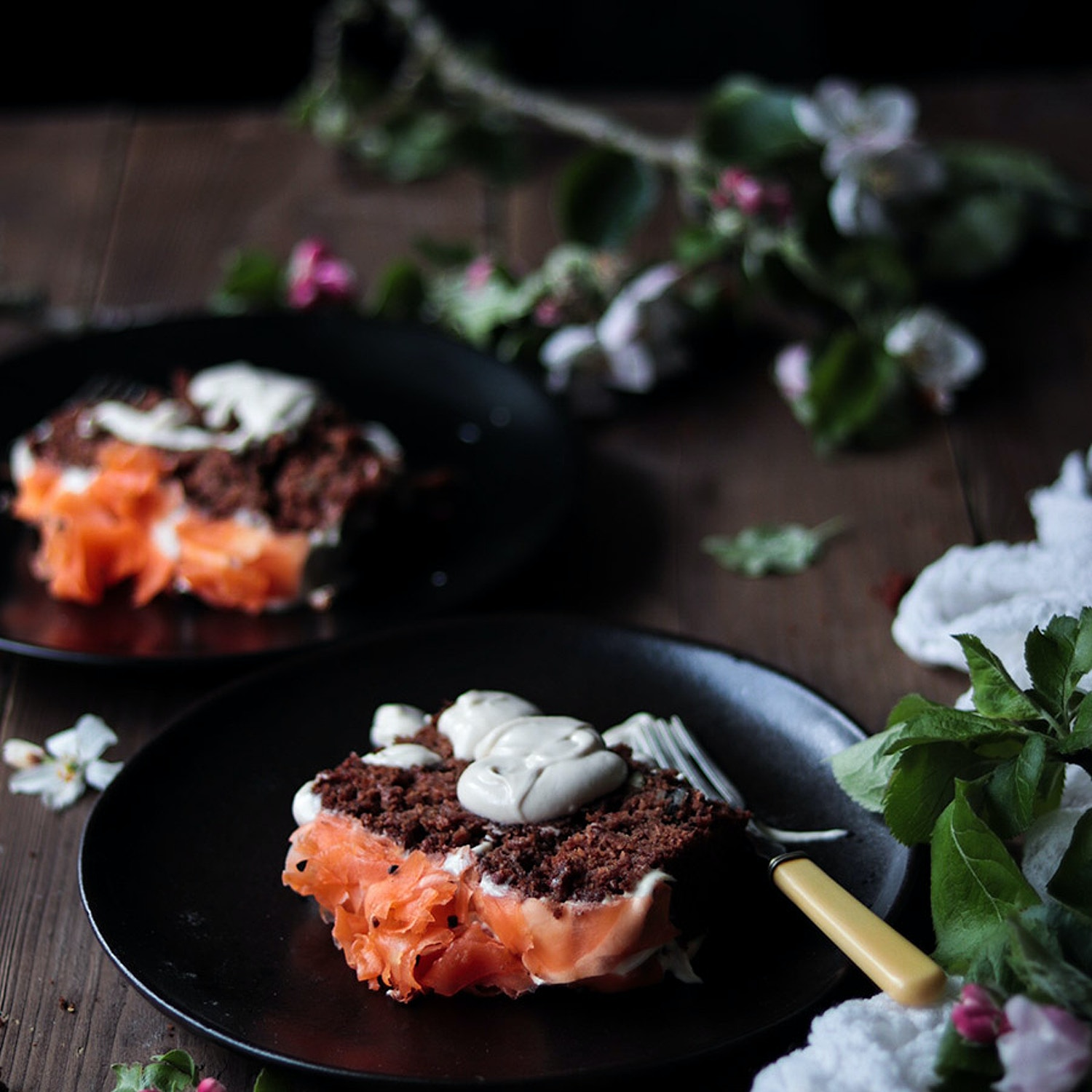Carrot Cake Loaf with Cardamon Poached Carrots