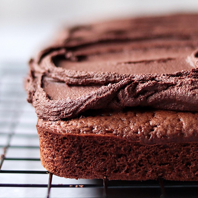 Mocha Sheet Cake with Espresso Frosting