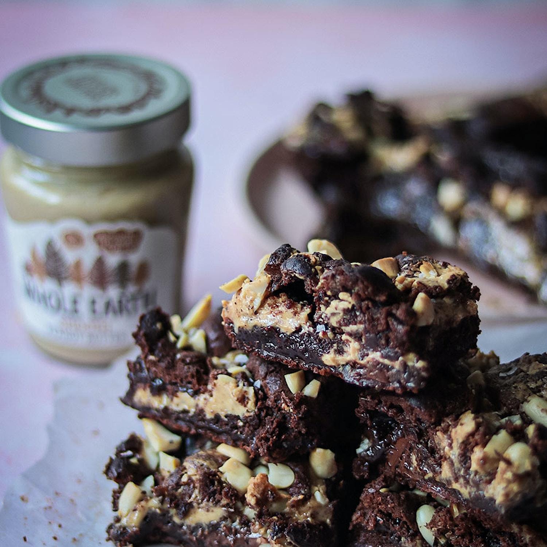 Gluten Free Salted Peanut Butter Brownies