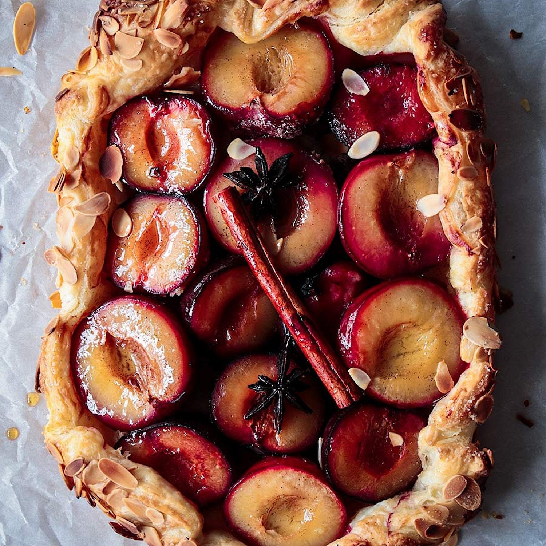 Easy plum and almond tart