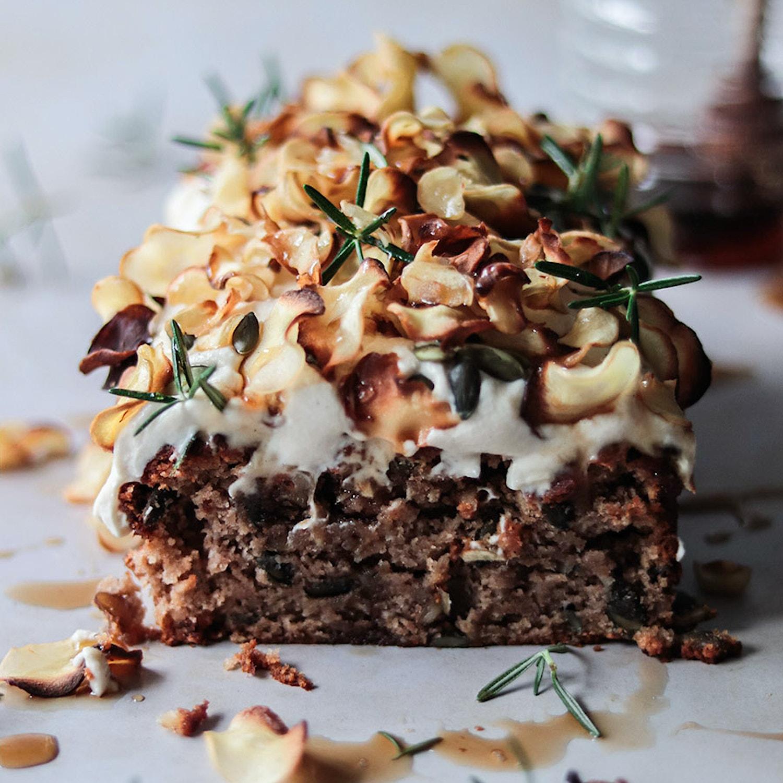 Spiced parsnip loaf cake